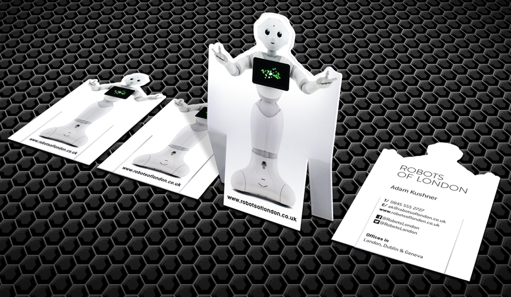 Robots of London 3D Business Card - Inchpunch | Branding and Design ...